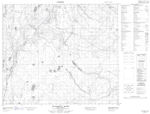 073I10 Wuchewun River Canadian topographic map, 1:50,000 scale