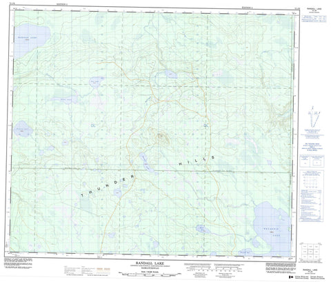 073J09 Randall Lake Canadian topographic map, 1:50,000 scale