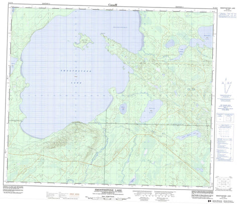 073J10 Smoothstone Lake Canadian topographic map, 1:50,000 scale