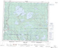 073J Green Lake Canadian topographic map, 1:250,000 scale