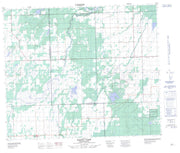073K02 Rapid View Canadian topographic map, 1:50,000 scale from Saskatchewan Map Store