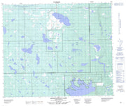 073K04 Ministikwan Lake Canadian topographic map, 1:50,000 scale from Saskatchewan Map Store