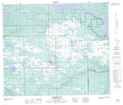 073K05 Pierceland Canadian topographic map, 1:50,000 scale from Saskatchewan Map Store