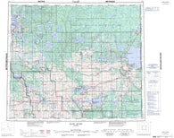 073L Sand River Canadian topographic map, 1:250,000 scale