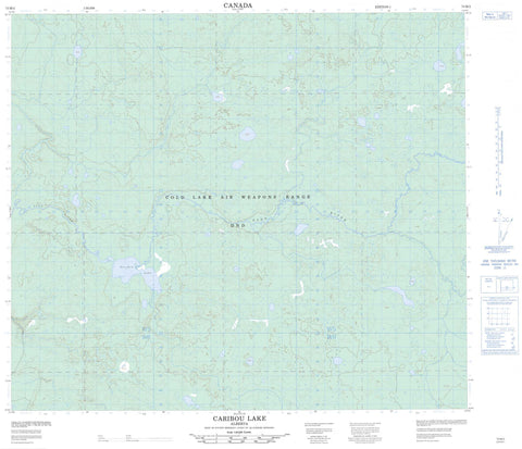 073M02 Caribou Lake Canadian topographic map, 1:50,000 scale