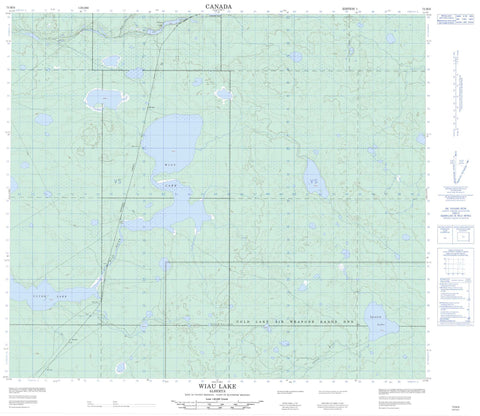 073M06 Wiau Lake Canadian topographic map, 1:50,000 scale