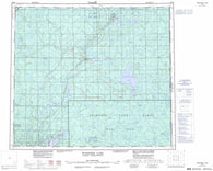 073M Winefred Lake Canadian topographic map, 1:250,000 scale