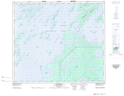073P02 Hunter Bay Canadian topographic map, 1:50,000 scale
