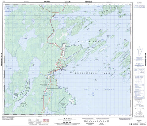 073P03 La Ronge Canadian topographic map, 1:50,000 scale