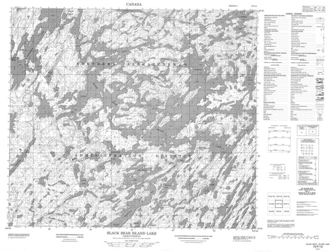 073P12 Black Bear Island Lake Canadian topographic map, 1:50,000 scale