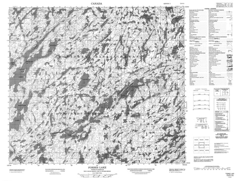 073P15 Forbes Lake Canadian topographic map, 1:50,000 scale