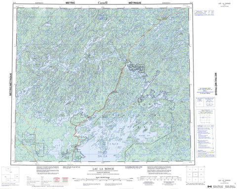 073P Lac La Ronge Canadian topographic map, 1:250,000 scale
