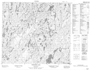 074A04 Hewetson Lake Canadian topographic map, 1:50,000 scale from Saskatchewan Map Store