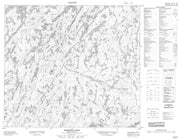074A06 Barnett Lake Canadian topographic map, 1:50,000 scale from Saskatchewan Map Store
