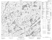 074A07 Rottenstone Lake Canadian topographic map, 1:50,000 scale from Saskatchewan Map Store