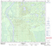 074E14 Pearson Lake Canadian topographic map, 1:50,000 scale from Alberta Map Store