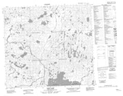 074F01 Neff Lake Canadian topographic map, 1:50,000 scale from Saskatchewan Map Store