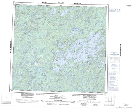 074G Cree Lake Canadian topographic map, 1:250,000 scale