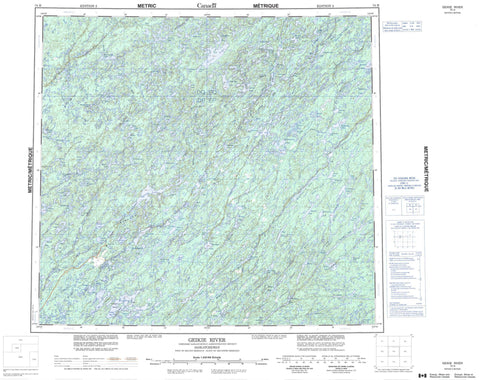074H Geikie River Canadian topographic map, 1:250,000 scale