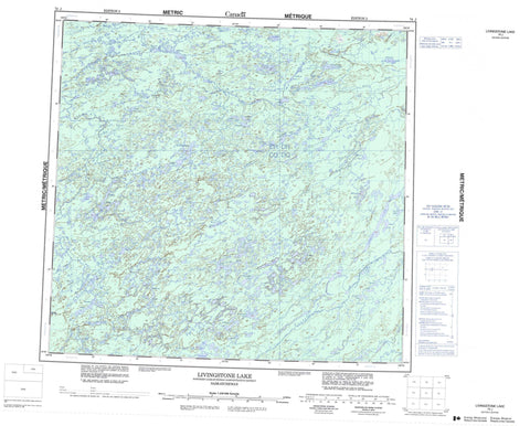 074J Livingstone Lake Canadian topographic map, 1:250,000 scale