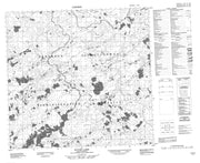 074K07 Payne Lake Canadian topographic map, 1:50,000 scale from Saskatchewan Map Store