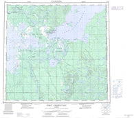 074L Fort Chipewyan Canadian topographic map, 1:250,000 scale