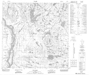 074M11 Hay Camp Canadian topographic map, 1:50,000 scale from Alberta Map Store