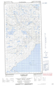 074N12E Harper Lake Canadian topographic map, 1:50,000 scale from Saskatchewan Map Store