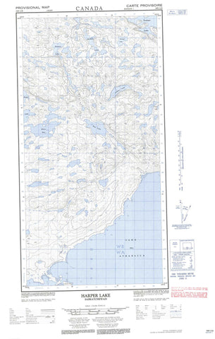 074N12E Harper Lake Canadian topographic map, 1:50,000 scale