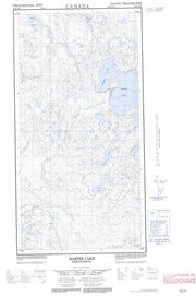 074N12W Harper Lake Canadian topographic map, 1:50,000 scale from Saskatchewan Map Store