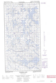 074N13E Thainka Lake Canadian topographic map, 1:50,000 scale from Saskatchewan Map Store
