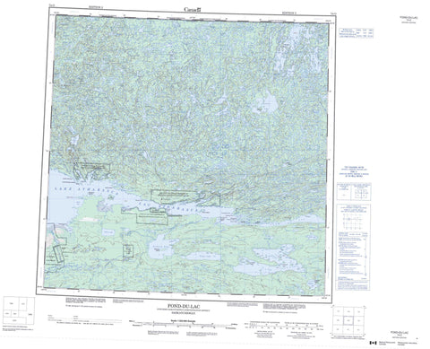 074O Fond Du Lac Canadian topographic map, 1:250,000 scale