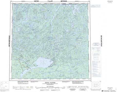 074P Stony Rapids Canadian topographic map, 1:250,000 scale