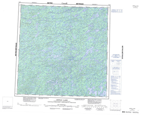 075B Abitau Lake Canadian topographic map, 1:250,000 scale