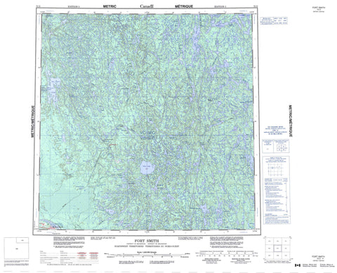 075D Fort Smith Canadian topographic map, 1:250,000 scale