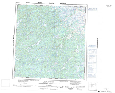 075G Mccann Lake Canadian topographic map, 1:250,000 scale
