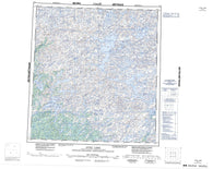 075J Lynx Lake Canadian topographic map, 1:250,000 scale