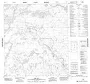 075P09 The Gap Canadian topographic map, 1:50,000 scale from Northwest Territories Map Store