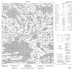076D15 Exeter Lake Canadian topographic map, 1:50,000 scale from Northwest Territories Map Store