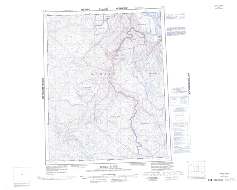 076K Mara River Canadian topographic map, 1:250,000 scale