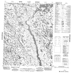 076O01 No Title Canadian topographic map, 1:50,000 scale from Nunavut Map Store
