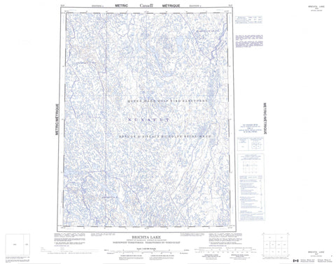 076P Brichta Lake Canadian topographic map, 1:250,000 scale