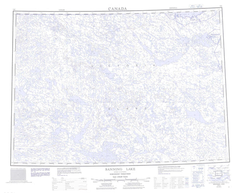 077C Banning Lake Canadian topographic map, 1:250,000 scale