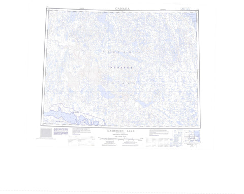 077E Washburn Lake Canadian topographic map, 1:250,000 scale