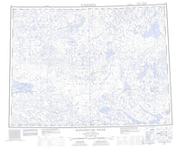 077F Kagloryuak River Canadian topographic map, 1:250,000 scale