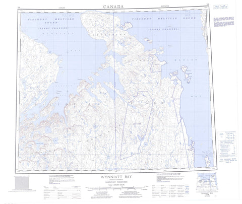 078B Wynniatt Bay Canadian topographic map, 1:250,000 scale