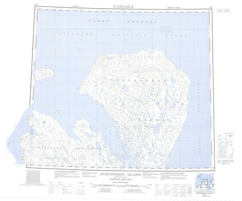 078D Stefansson Island Canadian topographic map, 1:250,000 scale