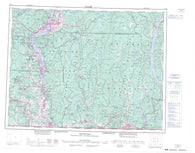 082E Penticton Canadian topographic map, 1:250,000 scale