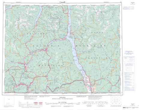 082F Nelson Canadian topographic map, 1:250,000 scale