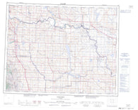 082I Gleichen Canadian topographic map, 1:250,000 scale